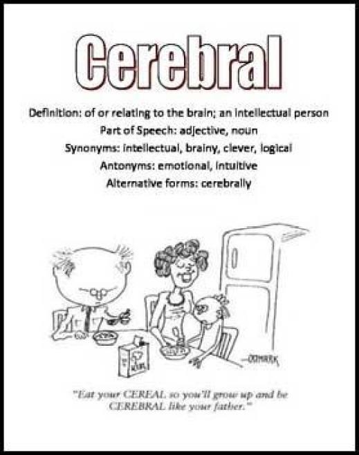 Learn English word CELEBRAL cartoon