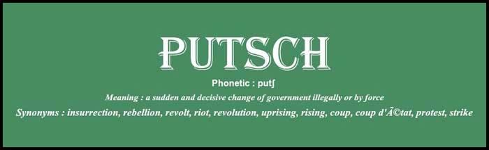 Learn English word putsch usage