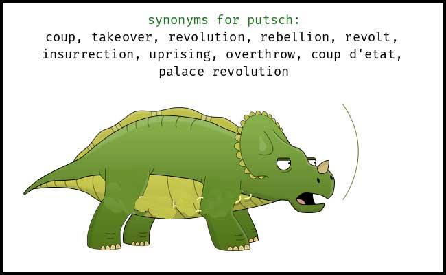 Learn English word Synonyms of PUTSCH