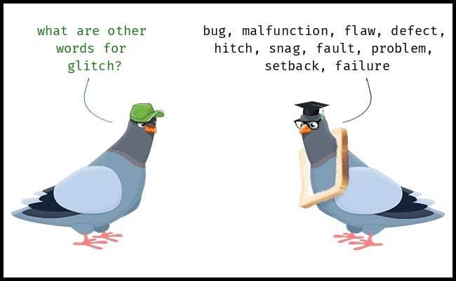 Learn GLITCH synonyms