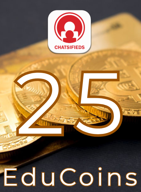 25 EduCoins Giftcard coupon and voucher Chatsifieds