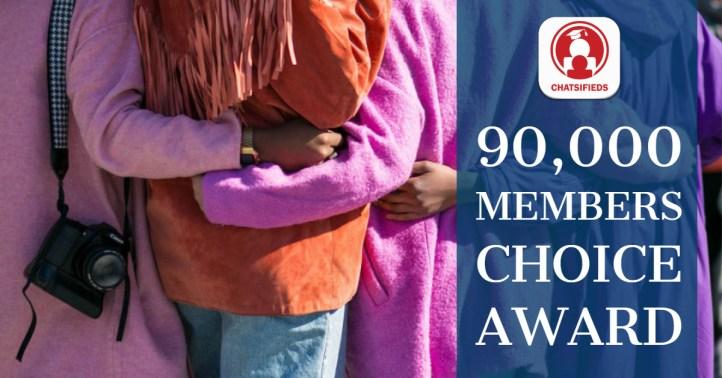 Chatsifieds 90K members award logo