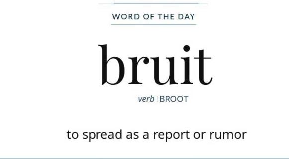 Wordipedia Learn BRUIT Meaning Definition Etymology Synonyms Chatsifieds