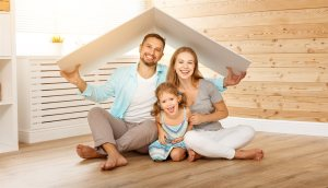 family under cardboard roof | Chattanooga Home Inspector | New roofing Chattanooga