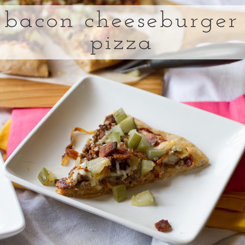bacon cheeseburger pizza // chattavore