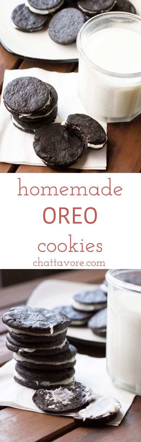 Who doesn't love twisting the top off of an Oreo to get to the filling? These are like homemade Oreo cookies and are even better than the ones you buy! | recipe from Chattavore.com