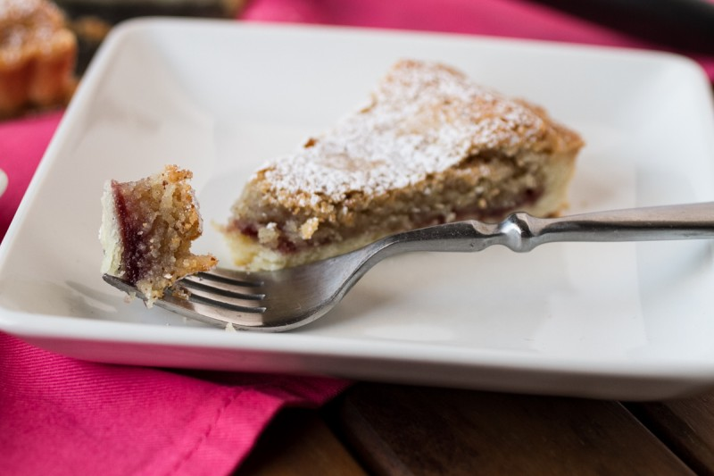 This traditional Bakewell tart is deliciously British, with a buttery pastry crust filled with frangipane and, for a twist, four-fruit jam. | recipe from Chattavore.com