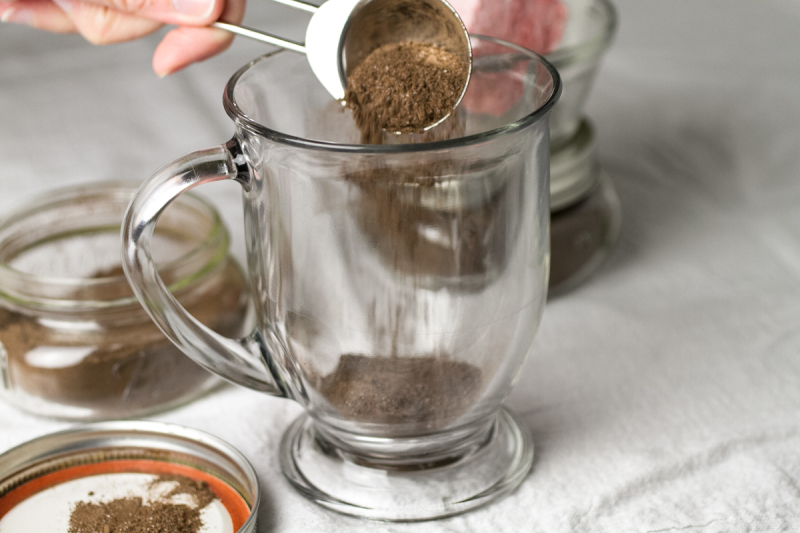 Malted hot chocolate mix is malty and chocolatey and it makes an excellent and easy cup of hot chocolate...no envelopes required! | recipe from Chattavore.com