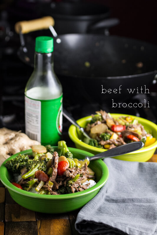 Beef with broccoli is a recipe that my grandmother used to make. I'm sure it's far from traditional, but it's easy & delicious, and that's all that matters!   recipe from Chattavore.com
