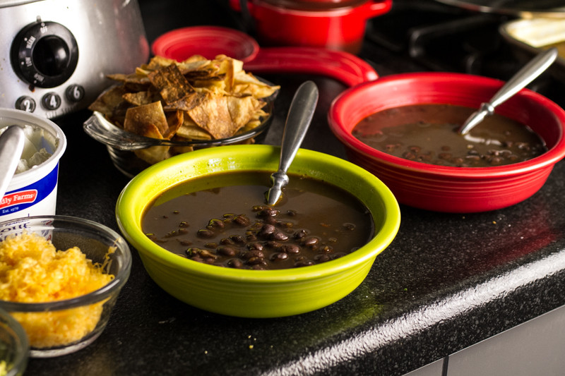 Tortilla soup usually has chicken and lots of tomatoes, but black bean tortilla soup is full of black beans...and deliciousness. | recipe from Chattavore.com