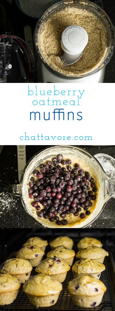 Blueberry Oatmeal Muffins pin