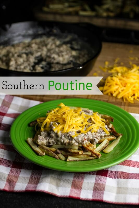 Southern poutine: Fries, sausage gravy, and cheddar cheese. Amen and amen. | chattavore.com