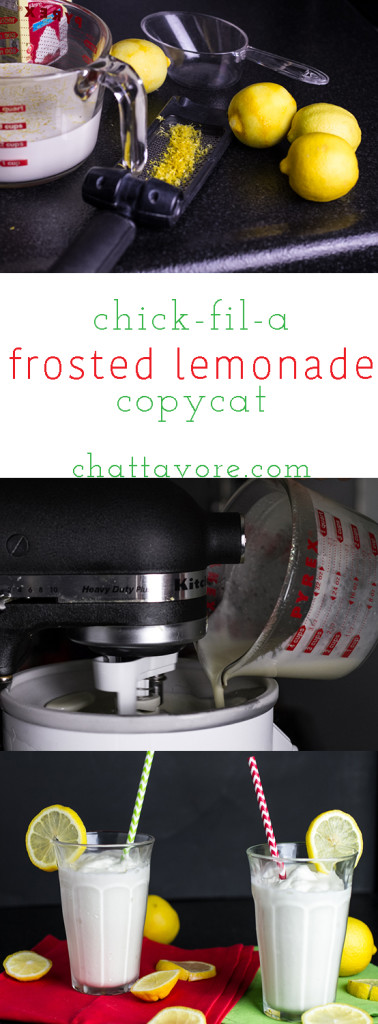 This frosted lemonade is a delicious copycat of Chick-fil-a's treat, made from scratch! | chattavore.com