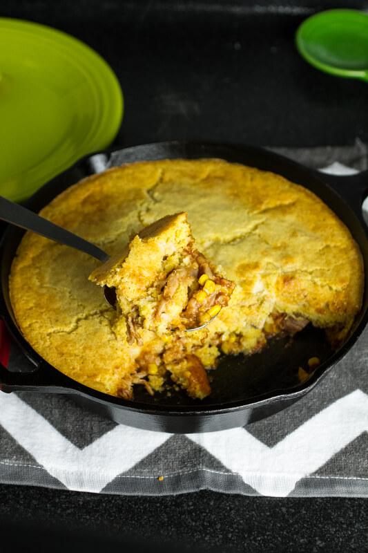 Bbq Chicken Skillet Cornbread Bake Chattavore
