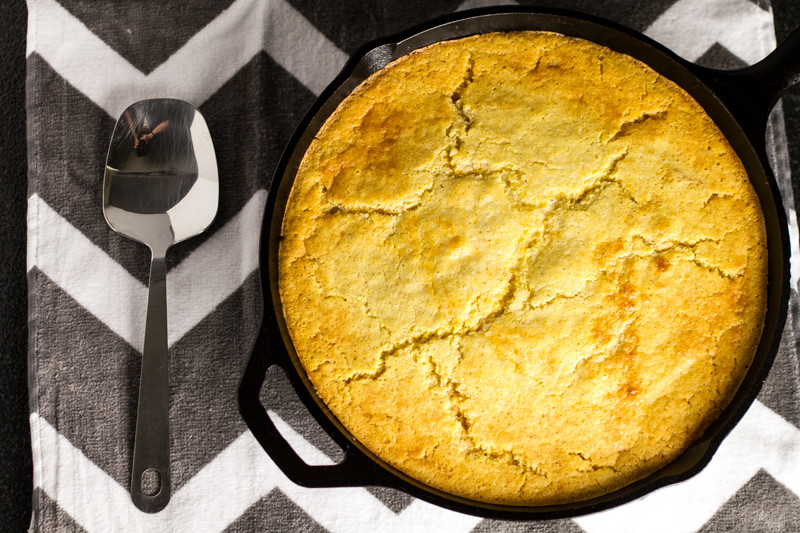 This BBQ chicken skillet cornbread bake is a delicious and easy one-skillet meal!   chattavore.com