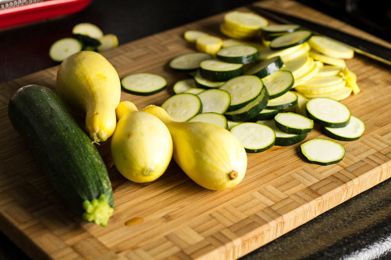 This summer squash casserole is packed with yellow squash, zucchini, and cheese and topped with crushed cheese crackers!   chattavore.com