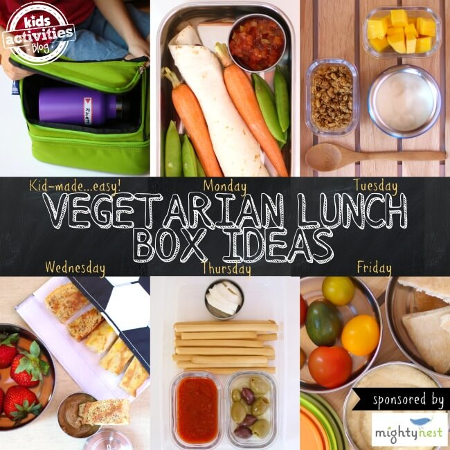 Week of Vegetarian Lunch Ideas Kids Can Pack Themselves from Kids Activities Blog
