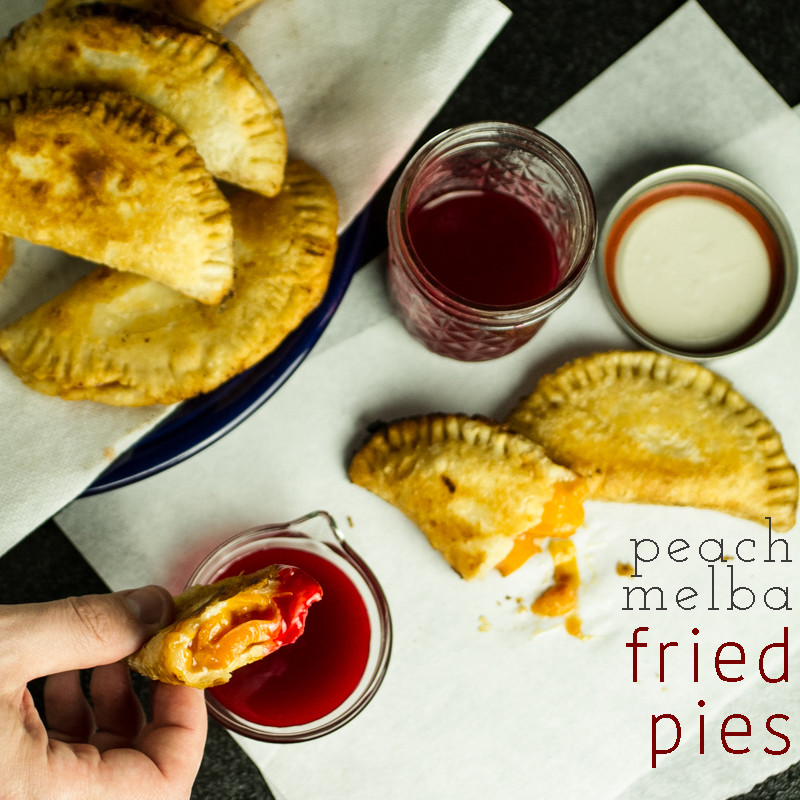 Peach fried pies with raspberry sauce combine the flavors of classic peach Melba with the Southern sensibility of a fried pie. | recipe from Chattavore.com