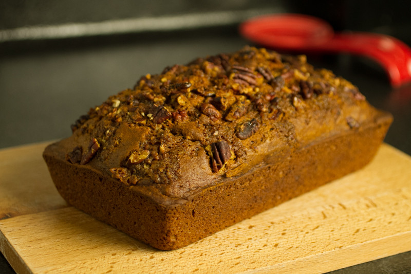 This pumpkin quick bread is a delicious way to welcome the coming season. The recipe comes from chef Kristin Sollenne's cookbook, Domestic Chic. | chattavore.com