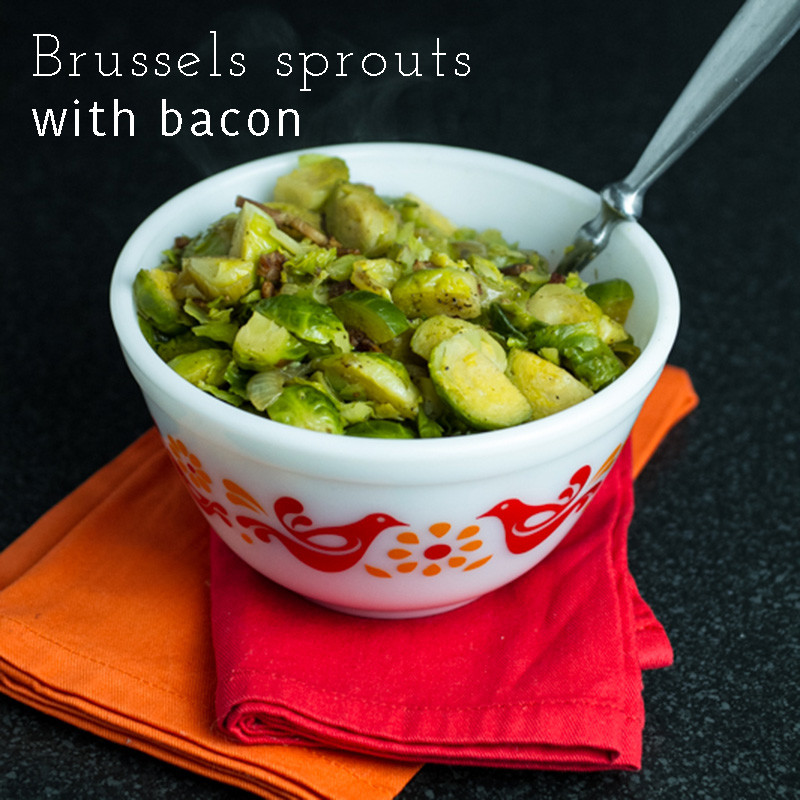 Brussels sprouts with bacon will make a believer out of the Brussels sprouts haters in your life! | recipe from chattavore.com