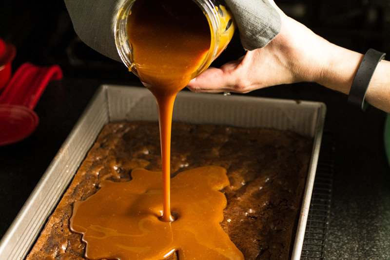 Salted caramel brownies are gooey, sweet, a little salty...and worth every.single.calorie.   chattavore.com