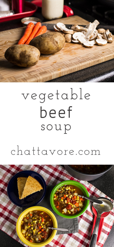 Vegetable beef soup is full of vegetables and simple to adapt into a paleo or vegetarian or vegan meal! | Recipe from Chattavore.com