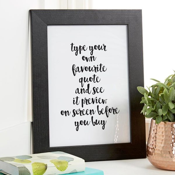 Personalised Quote Prints & Canvases Live