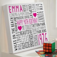 Personalised Word Art Canvases