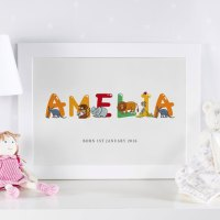 Personalized Children's Name Art Prints & Canvases ...
