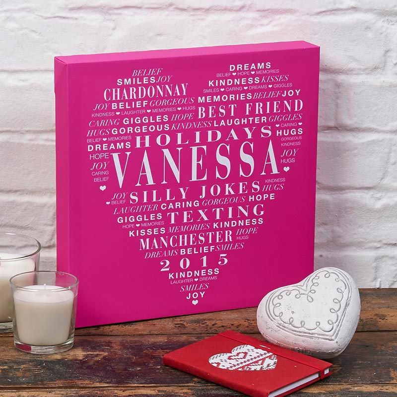 personalized word art canvases