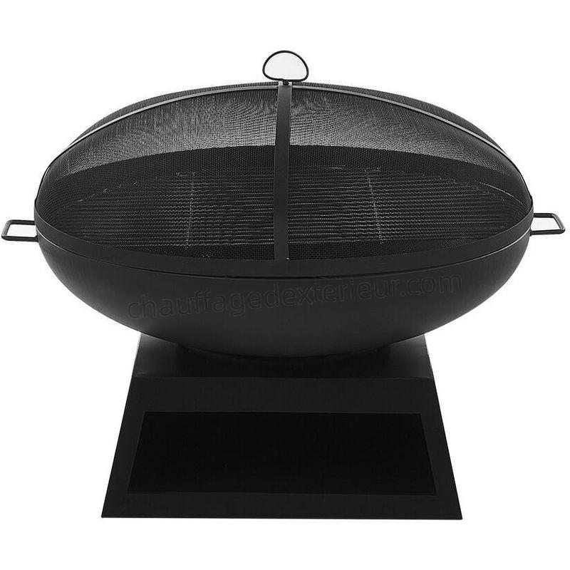 acier noir avec grille barbecue semeru