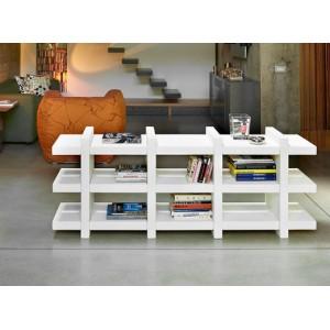 etagere basse design a larges cases ouvertes double face 4 6 ou 8 cases avec acces des 2 cotes