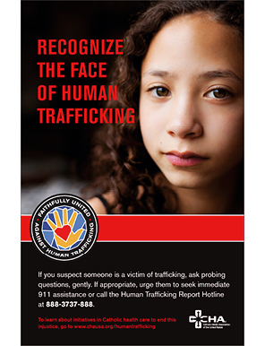 Human Trafficking Poster  Recognize the Face of Human