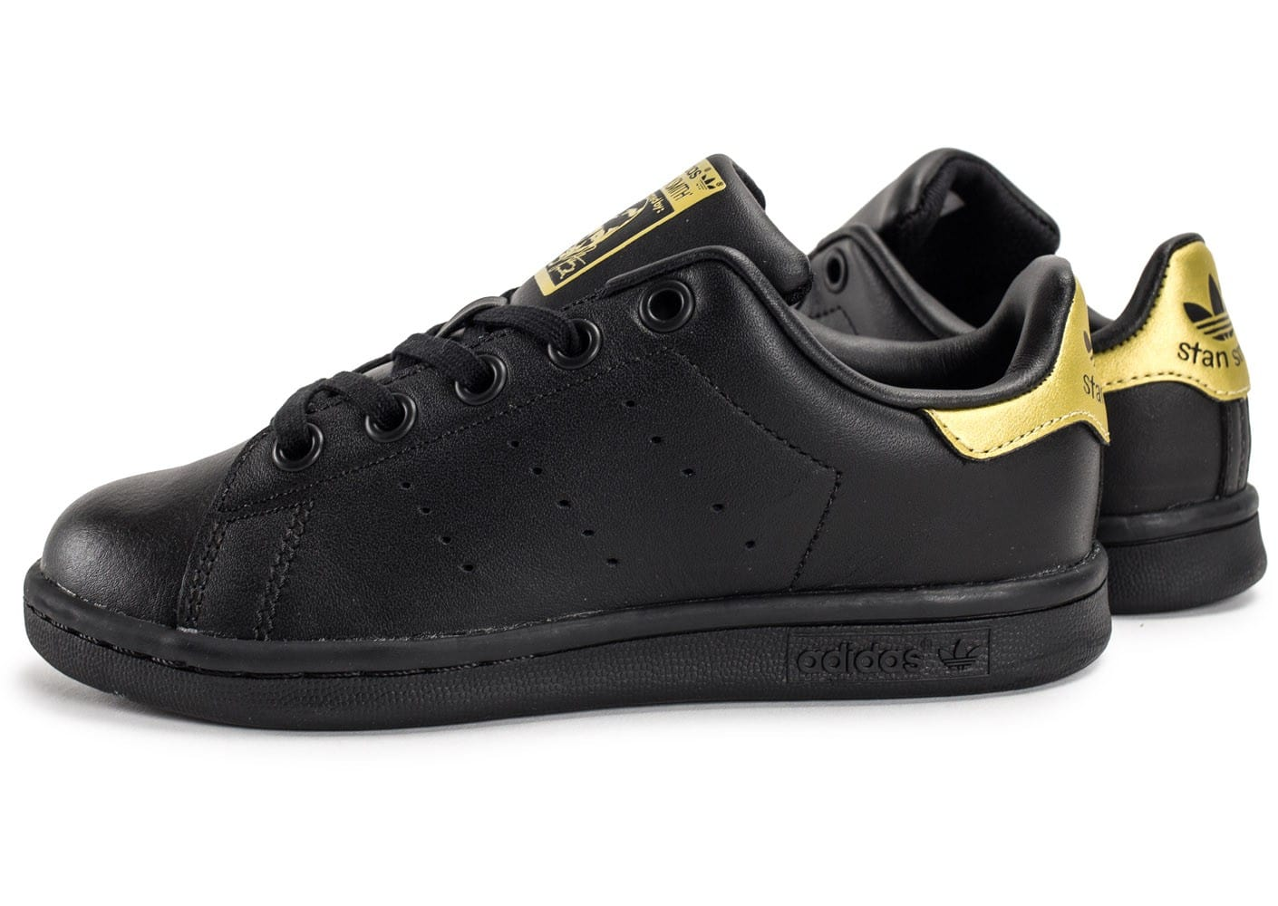 Adidas Stan Smith Enfant Noire Et Or Chaussures Adidas