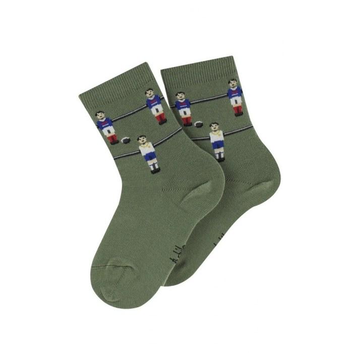 Mi-chaussettes motif Babyfoot en coton