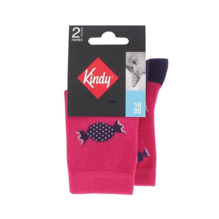 Pack de 2 paires de chaussettes fantaisies pour bébé fille
