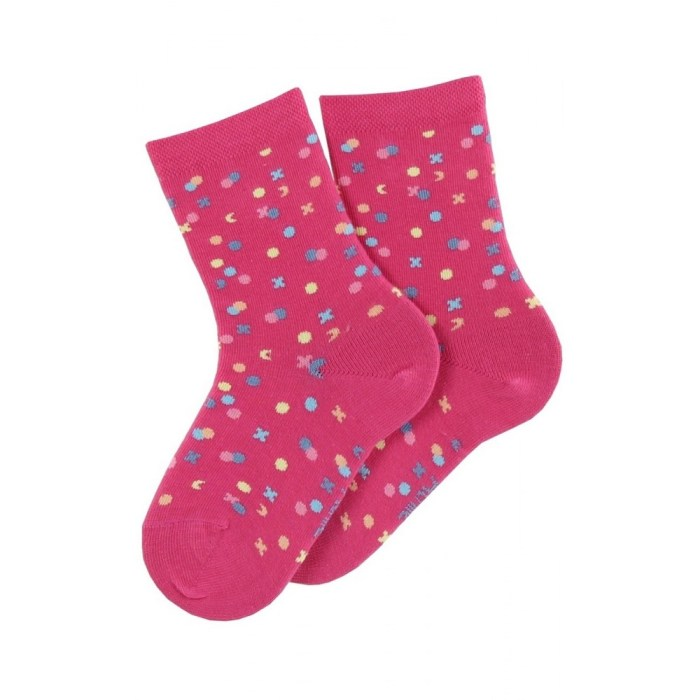 Mi-chaussettes modèle Confetti en coton