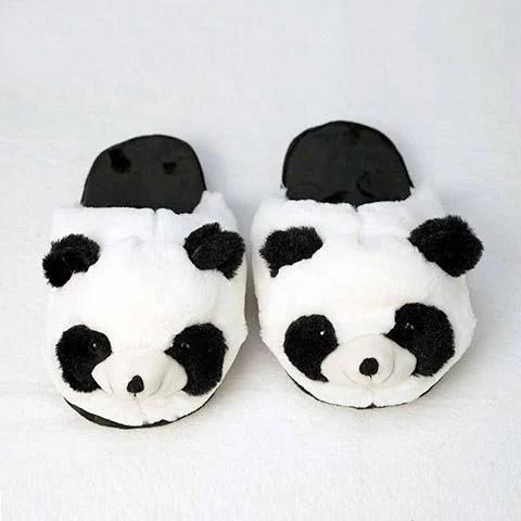 chausson femme panda rigolo