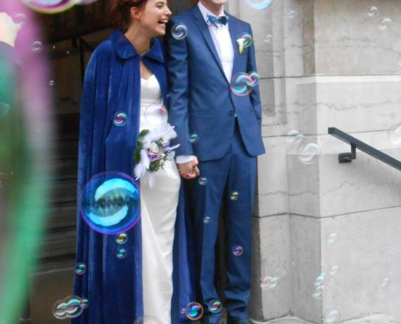 Mariage en bleu, mariage heureux !