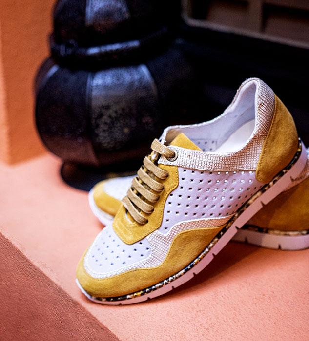 Baskets Jard jaune REGARD Chaussures