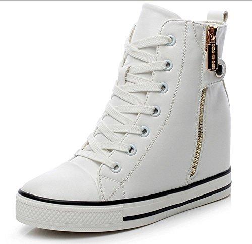 padgene baskets mode compens es montante sneakers tennis chaussures casuel pu cuir lacet. Black Bedroom Furniture Sets. Home Design Ideas