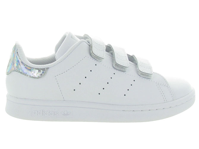 Adidas baskets et sneakers stan smith velcro argent7104201_2