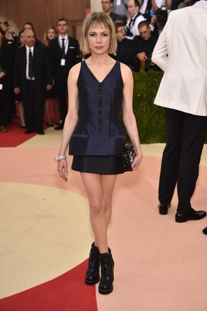 Gala Met chaussures : Michelle Williams