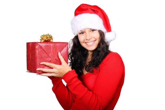Box Christmas Claus Cute Female - PublicDomainPictures / Pixabay