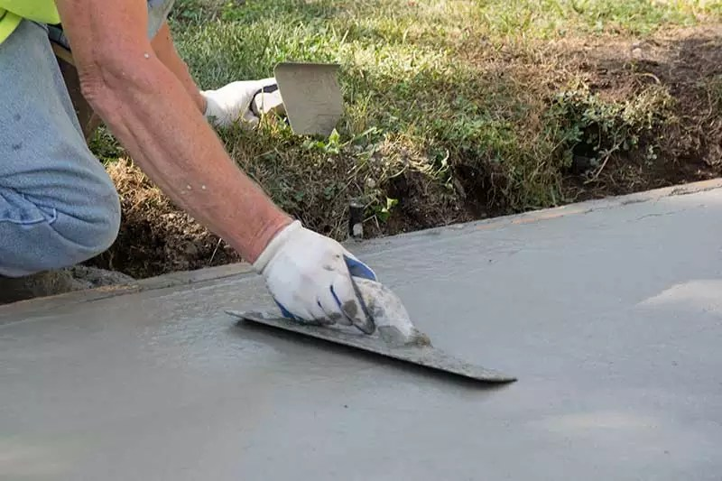 types of concrete finishes for patios