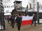 Far-right group leads anti-Semitic protest at Auschwitz during Holocaust memorial