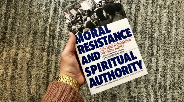 Book cover: Moral Resistance and Spiritual Authority: Our Jewish Obligation to Social Justice