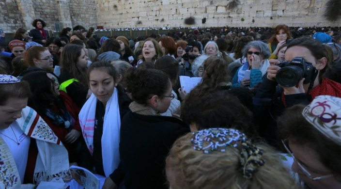 Women of the Wall Rosh Chodesh celebration, March 8, 2019