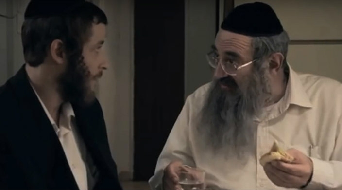 Scene from Shtisel, the Israeli television show