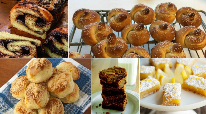 Collage of some of the recipes featured in this roundup